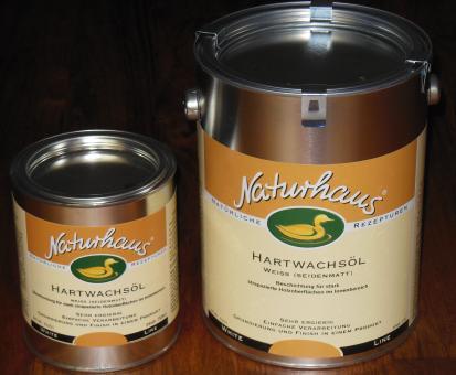 Naturhaus Hartwachsöl 750 ml weiß