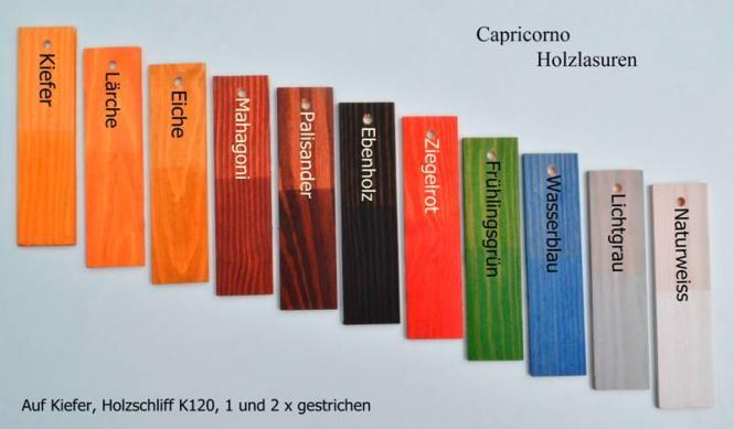 capricorno holzlasur farbig naturhausprodukte. Black Bedroom Furniture Sets. Home Design Ideas